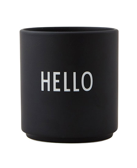 FAVOURITE CUP HELLO DESIGN LETTERS
